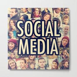 social media people Metal Print