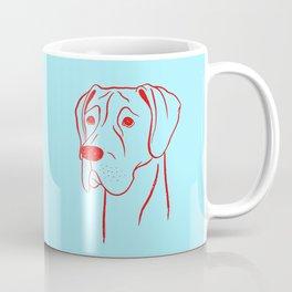 Great Dane (Cyan and Red) Coffee Mug