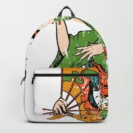 Geisha Geiko Geigi Koi Fish Backpack