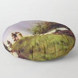 Thomas Eakins - Mending the Net Floor Pillow
