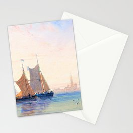 David Cox - Antwerp, Morning - Digital Remastered Edition Stationery Cards