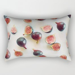 Fresh Figs on Linen Rectangular Pillow