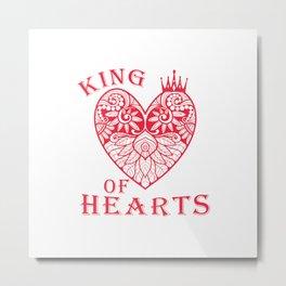 King of Hearts Metal Print