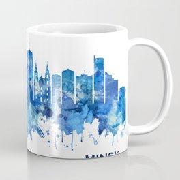 Minsk Belarus Skyline Blue Coffee Mug
