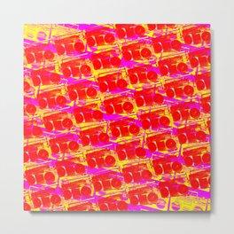 Boombox Pattern Metal Print