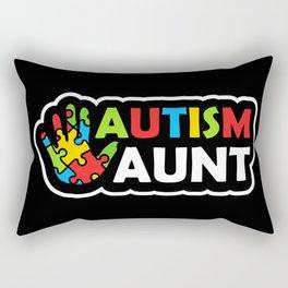 Autism Aunt Autism Awareness Gift Rectangular Pillow