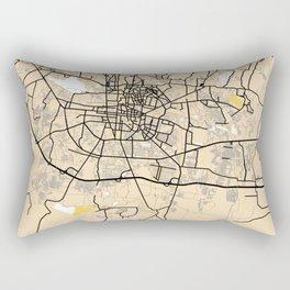 Astana Yellow City Map Rectangular Pillow