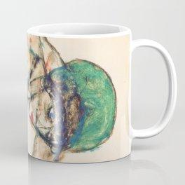 """Egon Schiele """"Frauenakt mit grüner Haube"""" Coffee Mug"""