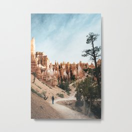 Bryce canyon hiker Metal Print