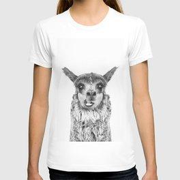 Llama BW T-Shirt
