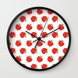 Delious Apple Pattern Wall Clock