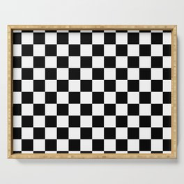 Chess Pattern | Strategy Tactic Board Game Serving Tray