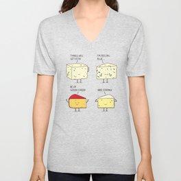 cheesy puns Unisex V-Neck