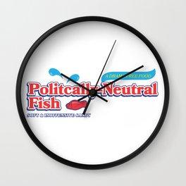 Politically Neutral Fish Wall Clock