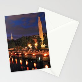 War Memorial Park Waterfire - Providence, Rhode Island Stationery Cards