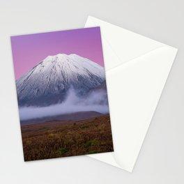 Mount Doom 4k volcano beautiful nature New Zealand Orodruin Stationery Cards