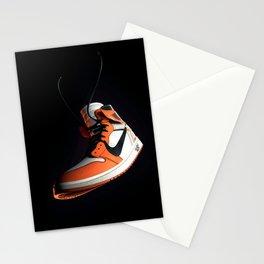 AJ 1 Black Orange Stationery Cards