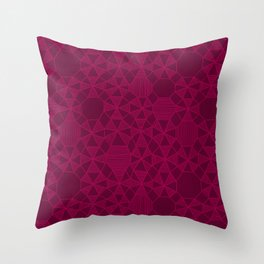 Abstract Minimalism in Raspberry Throw Pillow