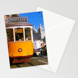 Portuguese tram Stationery Cards