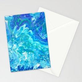 Aqua Ocean Blue Stationery Cards