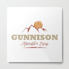 Gunnison Camping  TShirt Adventure Camp Shirt Camper Gift Idea Metal Print