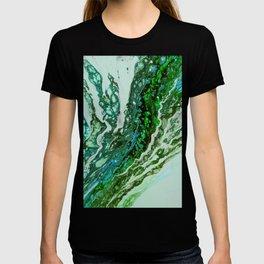 Green blue rivers T-shirt