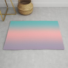 081 Teal Peach and Purple Gradient Rug