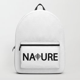 Nature / One word creative typography design Backpack