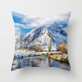 Mount Burnett Throw Pillow