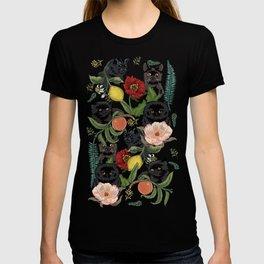 Botanical and Black Cats T-Shirt