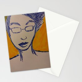 Small Face 2 (2019) from MyMargins Stationery Cards