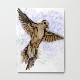 Morning dove Metal Print