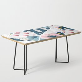 Colorful Geometric Flowers Pattern Coffee Table