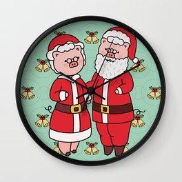 piggy santa Wall Clock