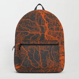 Cincinnati map orange Backpack