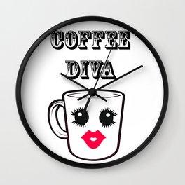 Coffee Diva Wall Clock