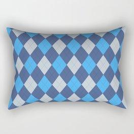 The Professor Blue Argyle Print Seamless Pattern Rectangular Pillow