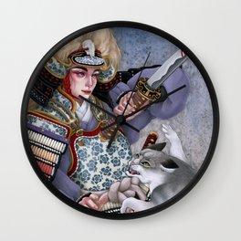Warrior of dawn Wall Clock