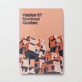 Habitat 67 retro poster Metal Print