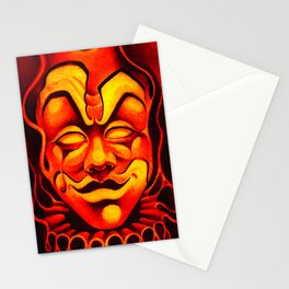 Fire Clown Stationery Cards