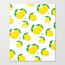 Big Lemon pattern Canvas Print