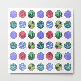 Embroidery Art Metal Print