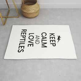 Pet Keep Calm Reptile Lizard Geko Gift Rug
