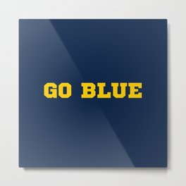 Go Blue Metal Print