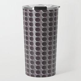Abstract Grey Metal Dots Pattern Travel Mug