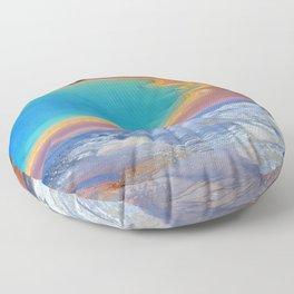 grand prismatic spring yellowstone Floor Pillow
