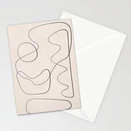 Abstract Line III Stationery Cards