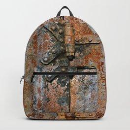 Rusty metal door details Backpack