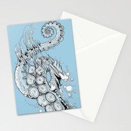 Cephalopodic Swipe (linework) Stationery Cards