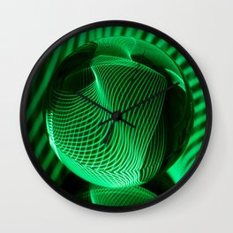 Green in the glass ball Wall Clock